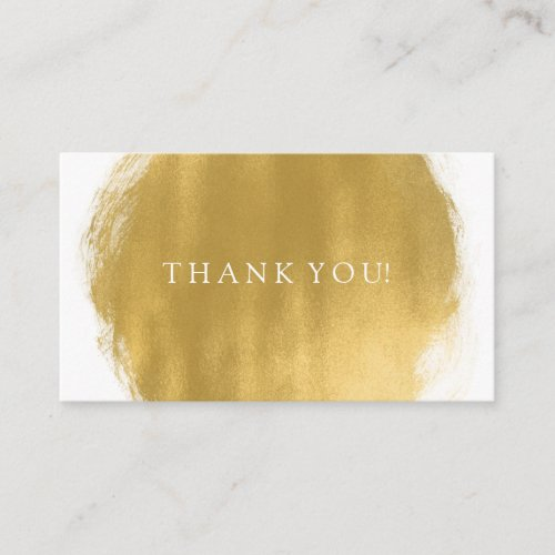 Thank You Insert Gold Paint Look