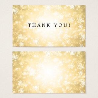 Thank You Insert Gold Winter Wonderland