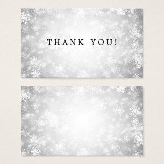Thank You Insert Silver Winter Wonderland