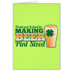 Thank you Ireland for making beer pint sized from Greeting Card
