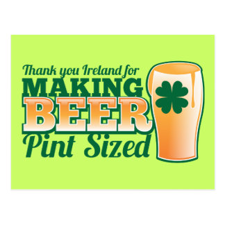 Thank you Ireland for making beer pint sized from Postcard