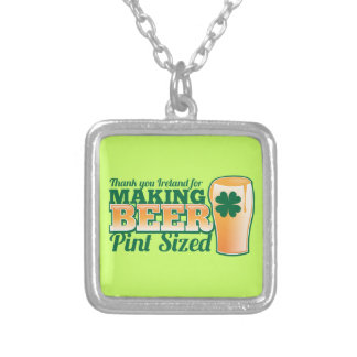 Thank you Ireland for making beer pint sized from Silver Plated Necklace