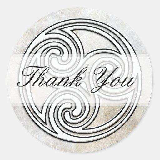 Thank You Irish Celtic Knot Invitation Seals Classic Round Sticker