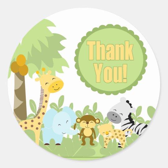 Thank You It's A Jungle Classic Round Sticker