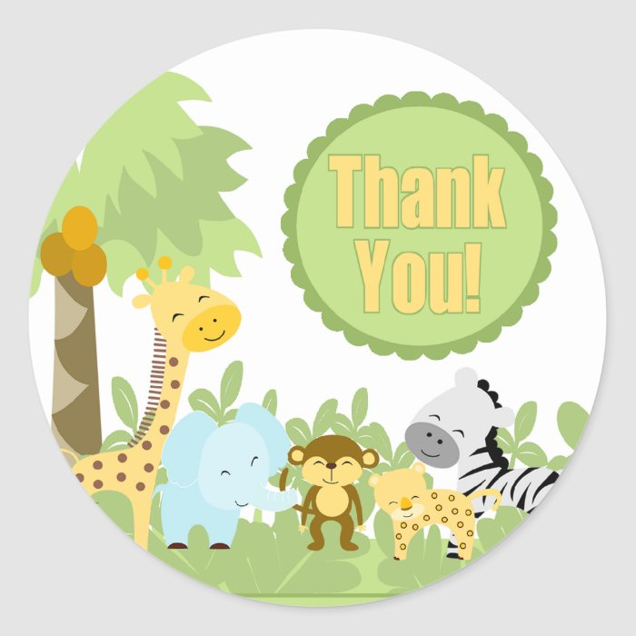 Thank You It's A Jungle Classic Round Sticker