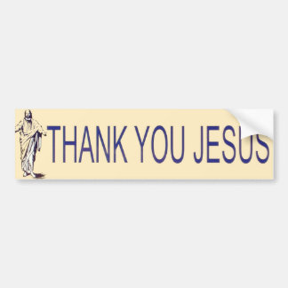 Thank you Jesus! Bumper Sticker