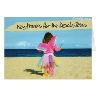 Thank You Jesus for the beach Greeting Card