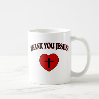 Thank You Jesus (Heart) Classic White Coffee Mug