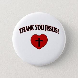 Thank You Jesus (Heart) Pinback Button