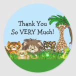 Thank You! Jungel Baby Shower Stickers