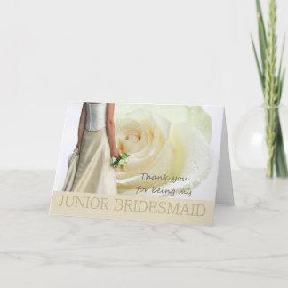 Thank You Junior Bridesmaid White rose