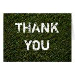 THANK YOU Karte  - Grußkarte - grüner Rasen Tarjeta De Felicitación