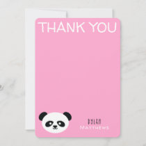 Thank You Kawaii Panda Bear Personalized Pink