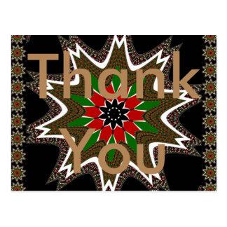 Thank You Kenya Coffee brown Postcard