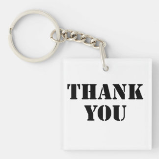 Thank You Acrylic Keychains