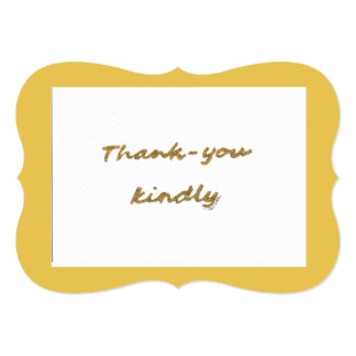 Thank you kindly note card