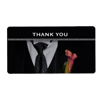 Thank you label for wedding party