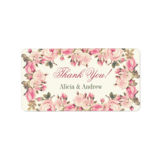 Thank you labels personalized custom wedding