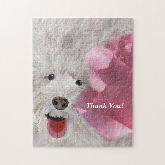 Thank You Labradoodle and Rose  Jigsaw Puzzle