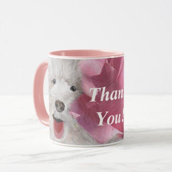 Thank You Labradoodle and Rose  Mug