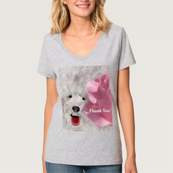 Thank You Labradoodle and Rose  T-Shirt