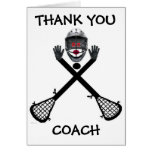 Thank You Lacrosse Coach Card