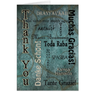 THANK YOU - LANGUAGES - BLUE CARD