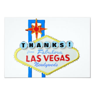 Thank You Las Vegas Newlyweds Card