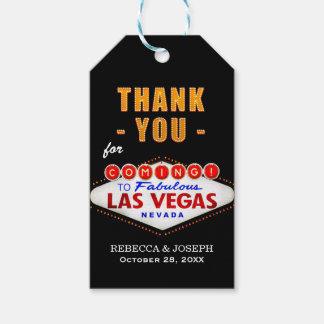 Thank You - Las Vegas Sign Fabulous Casino Night Gift Tags