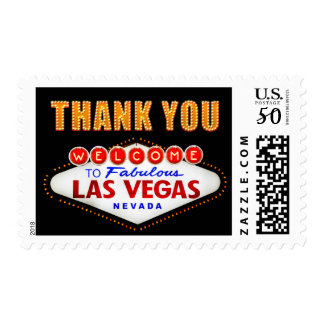 Thank You - Las Vegas Sign Fabulous Casino Night Postage