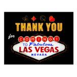 Thank You - Las Vegas Sign Fabulous Casino Night Postcard