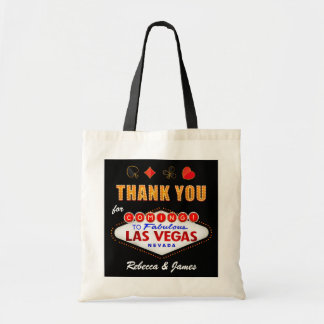 Thank You Las Vegas Sign Fabulous Casino Night Tote Bag