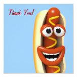 Thank You! Laughing Hot Dog - Thankyou Custom Invites