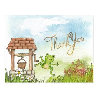 Thank You Leap Frog Postcard
