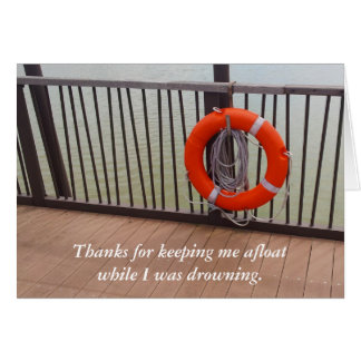 Thank You, Life Buoy, Gratitude Card