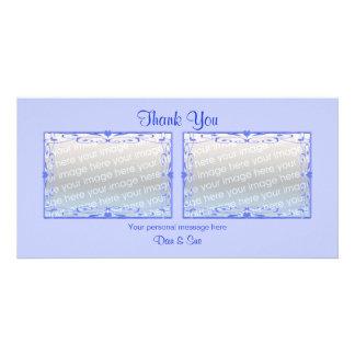 Thank You Light Blue 2 Photos Card