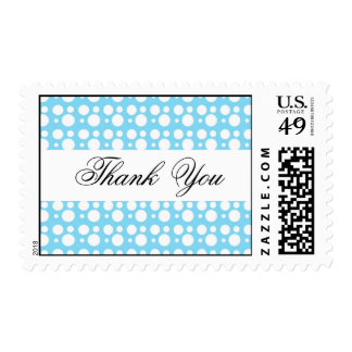 thank you,light blue dots postage