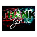 Thank You Light-Paint Photo Postcard
