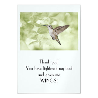 Thank you! Lightening my load and giving me wings! Announcements