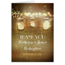 Thank You Lights Mason Jars Rustic Thank You Cards