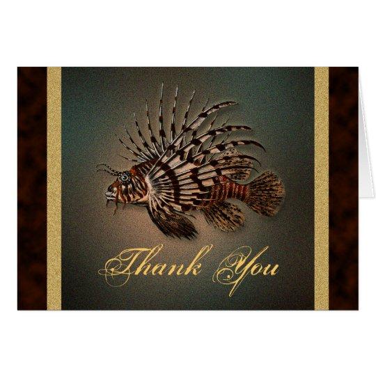 """Thank you"" lionfish Card"