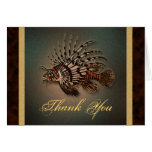 """Thank you"" lionfish Greeting Card"