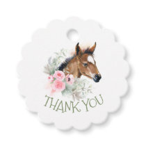 Thank You Little Horse Birthday Party Favor Tags