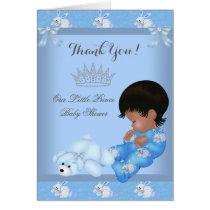 Thank You Little Prince Baby Shower Boy Blue AM Card