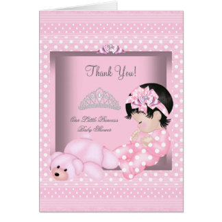 Thank You Little Princess Baby Shower Girl Pink Cards