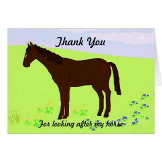 Thank you -looking after Horse Card