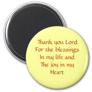 thank you lord 2 inch round magnet