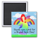 Thank-you Lord for a Brand New Day! 2 Inch Square Magnet