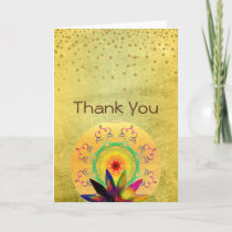 Thank You Lotus Flower Watercolor Holistic