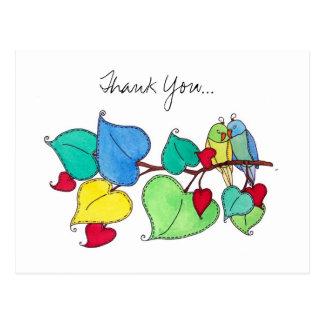 Thank You, Love Birds II Postcard